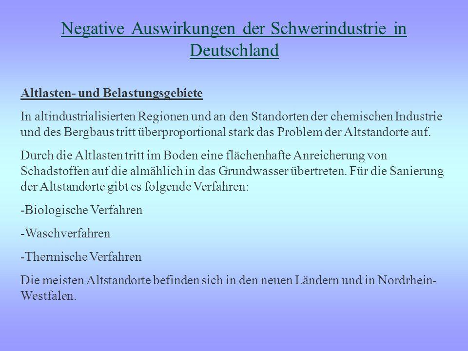 Negative Auswirkungen der Schwerindustrie in Deutschland