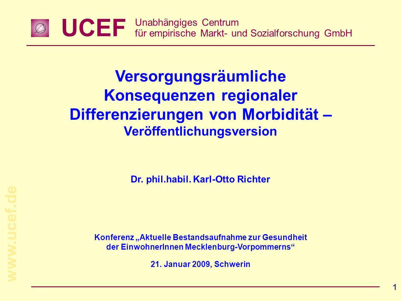 Versorgungsräumliche Konsequenzen regionaler Differenzierungen von Morbidität –