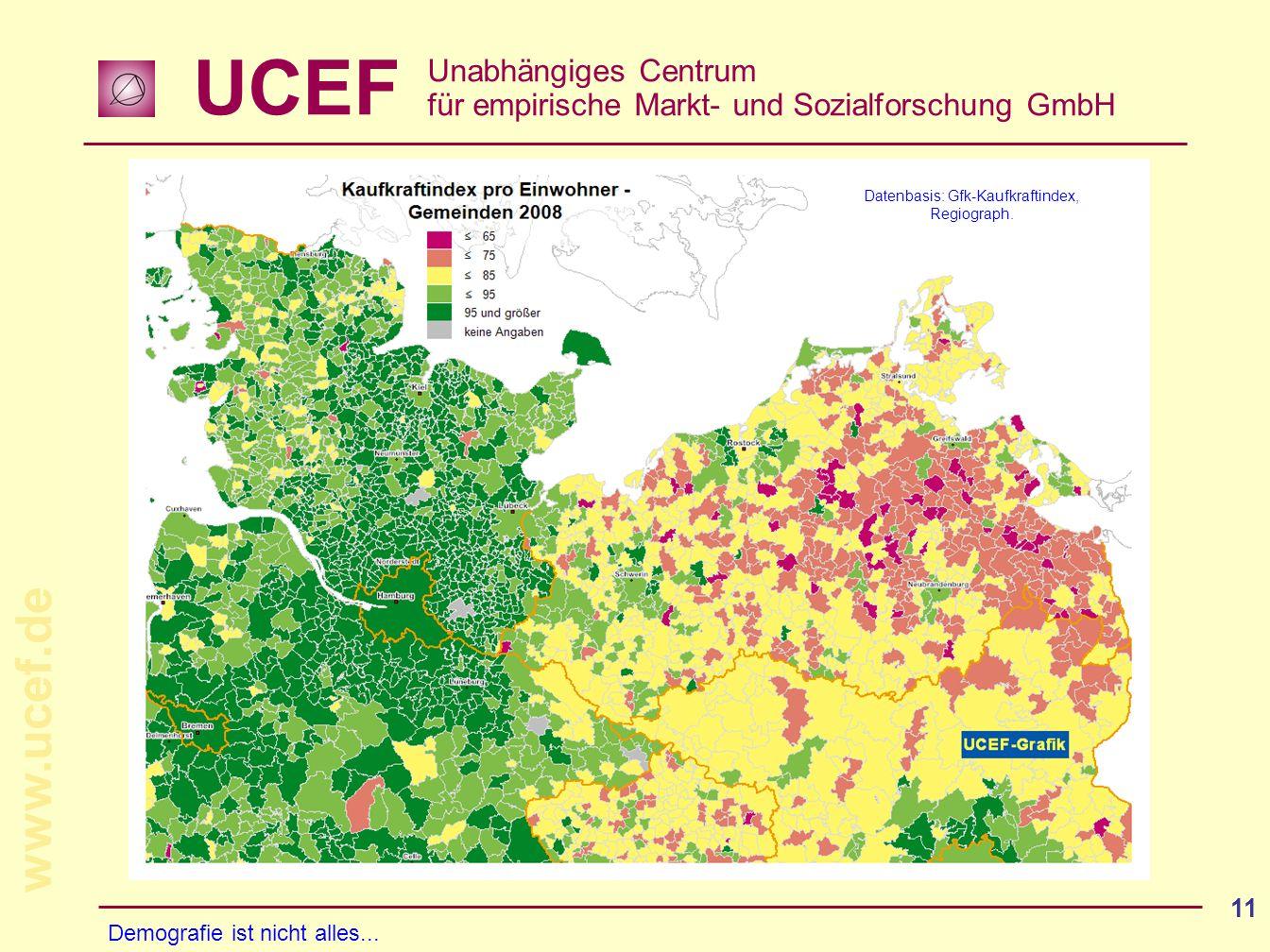 Datenbasis: Gfk-Kaufkraftindex, Regiograph.