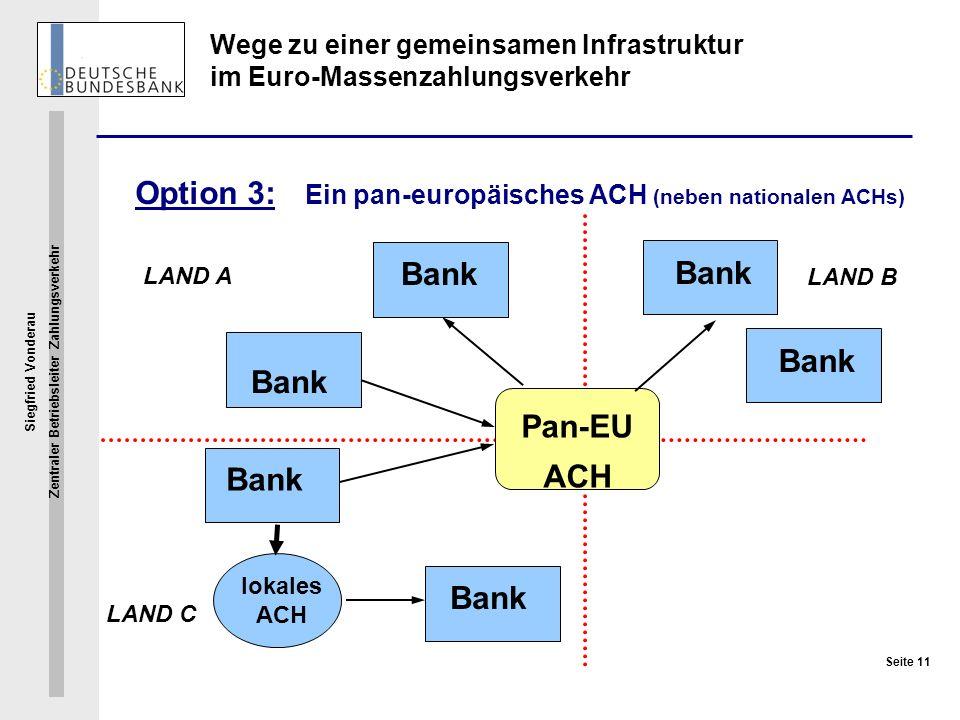 Wege zu einer gemeinsamen Infrastruktur im Euro-Massenzahlungsverkehr