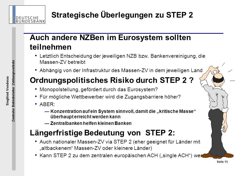 Strategische Überlegungen zu STEP 2