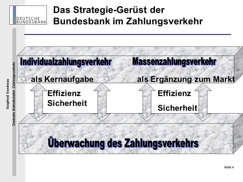Das Strategie-Gerüst der Bundesbank im Zahlungsverkehr