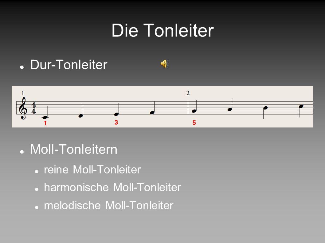Die Tonleiter Dur-Tonleiter Moll-Tonleitern reine Moll-Tonleiter