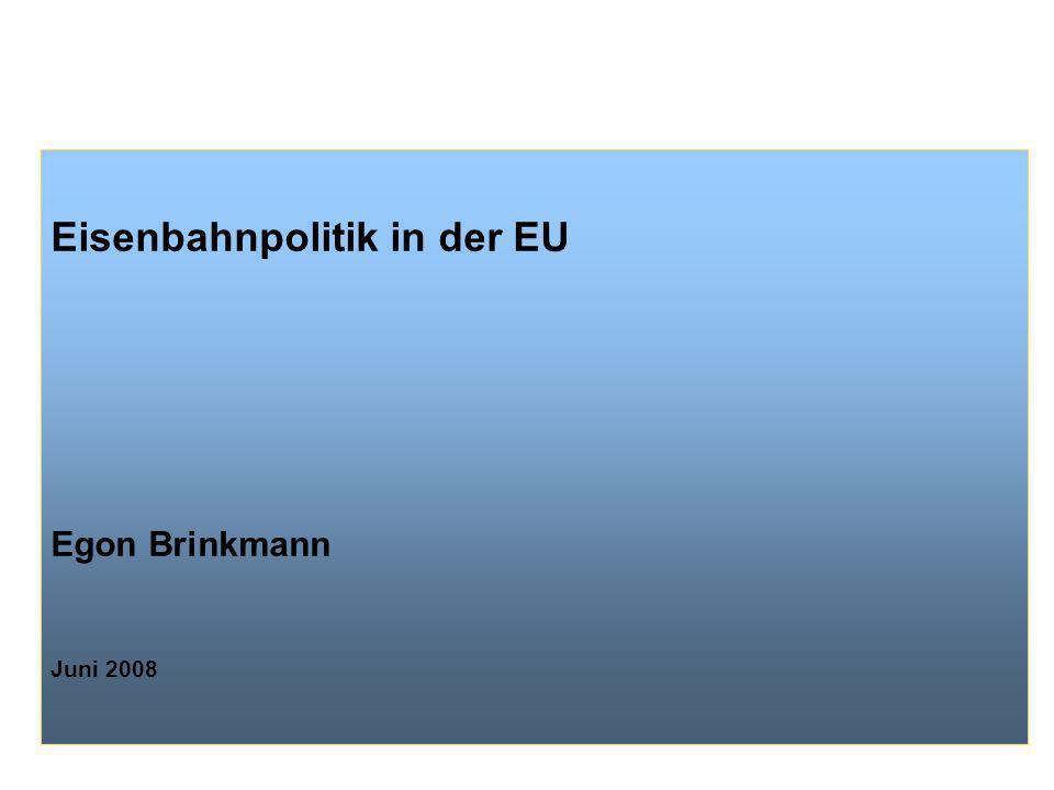 Eisenbahnpolitik in der EU