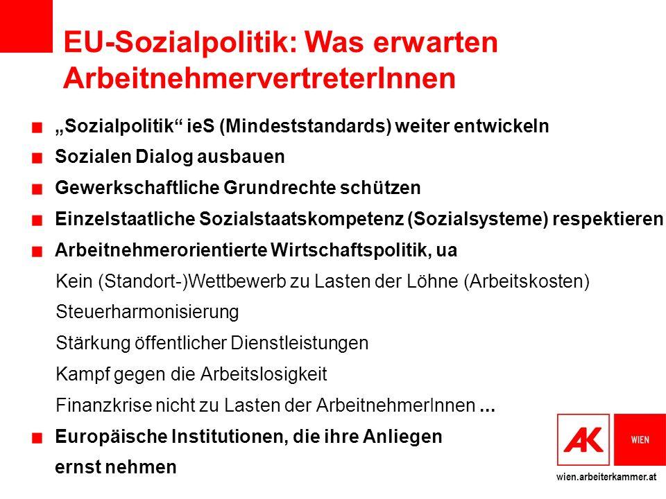 EU-Sozialpolitik: Was erwarten ArbeitnehmervertreterInnen