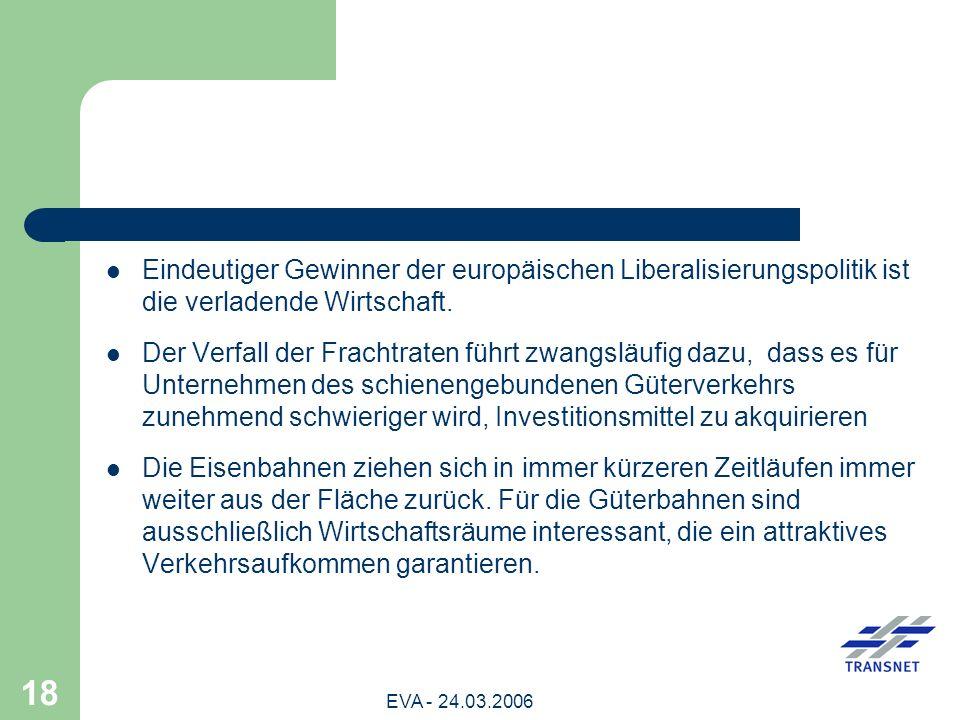 Eindeutiger Gewinner der europäischen Liberalisierungspolitik ist die verladende Wirtschaft.