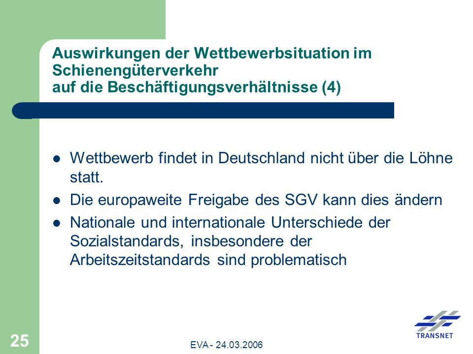 Wettbewerb findet in Deutschland nicht über die Löhne statt.