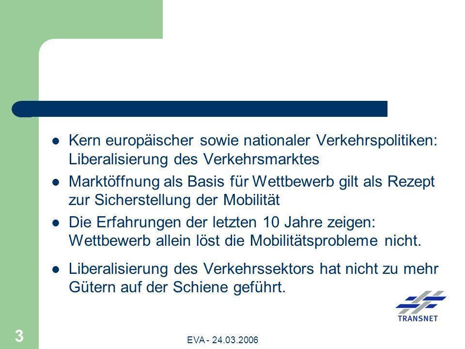 Kern europäischer sowie nationaler Verkehrspolitiken: Liberalisierung des Verkehrsmarktes