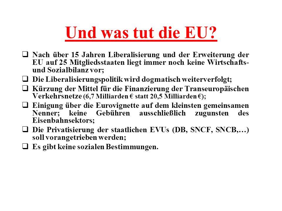 Und was tut die EU