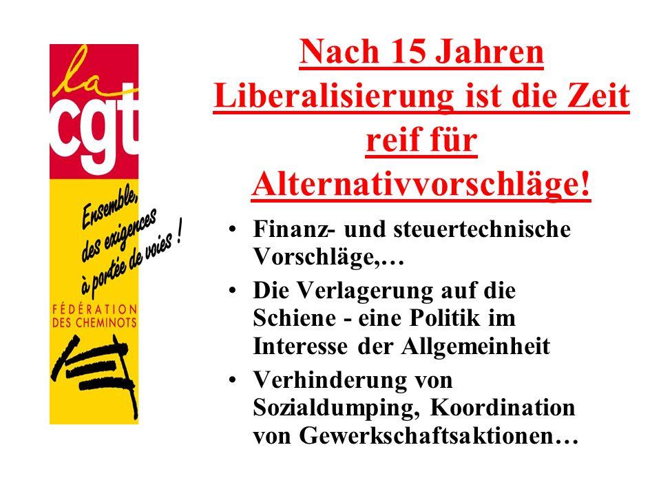 Nach 15 Jahren Liberalisierung ist die Zeit reif für Alternativvorschläge!