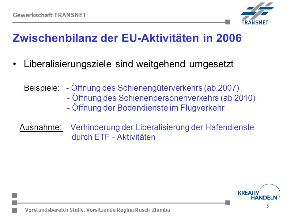 Zwischenbilanz der EU-Aktivitäten in 2006