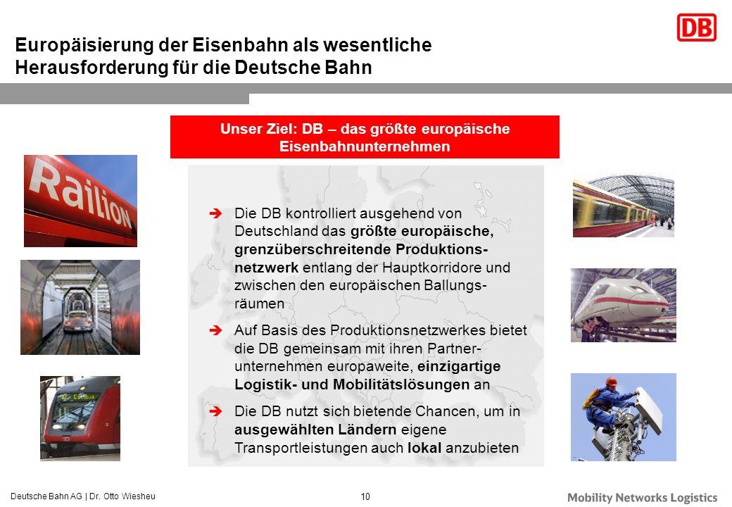 Unser Ziel: DB – das größte europäische Eisenbahnunternehmen