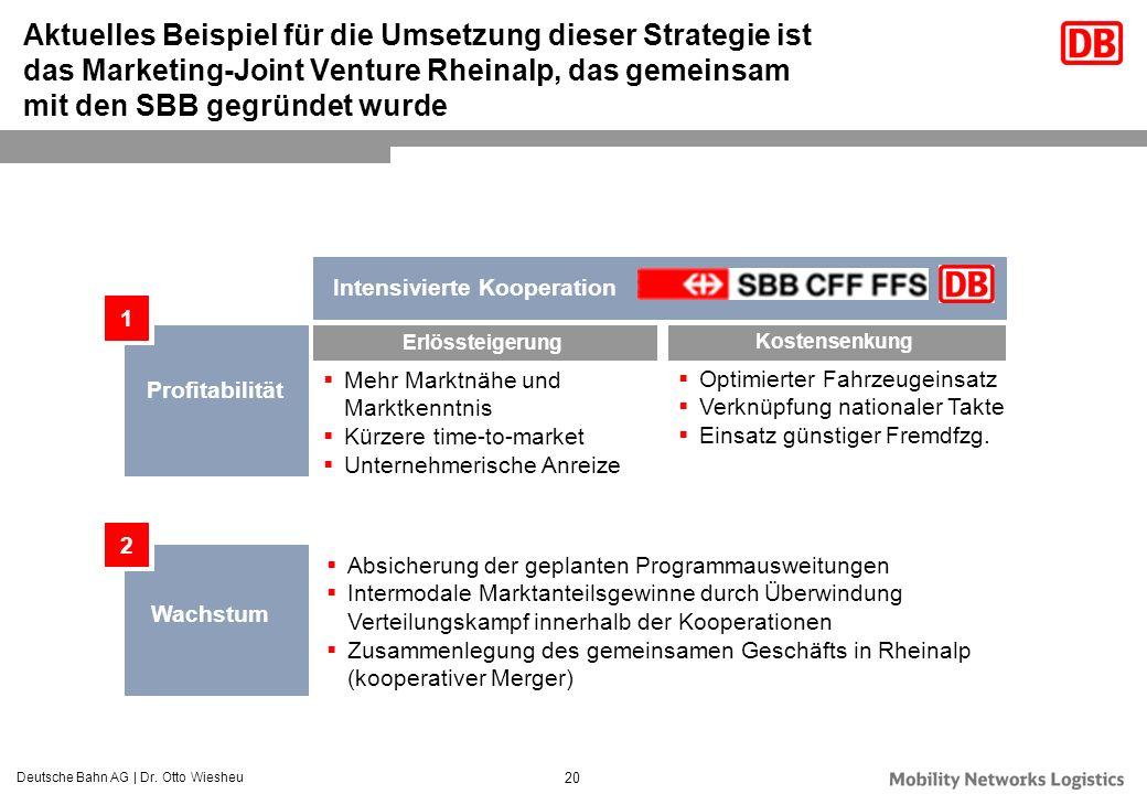 Aktuelles Beispiel für die Umsetzung dieser Strategie ist das Marketing-Joint Venture Rheinalp, das gemeinsam mit den SBB gegründet wurde