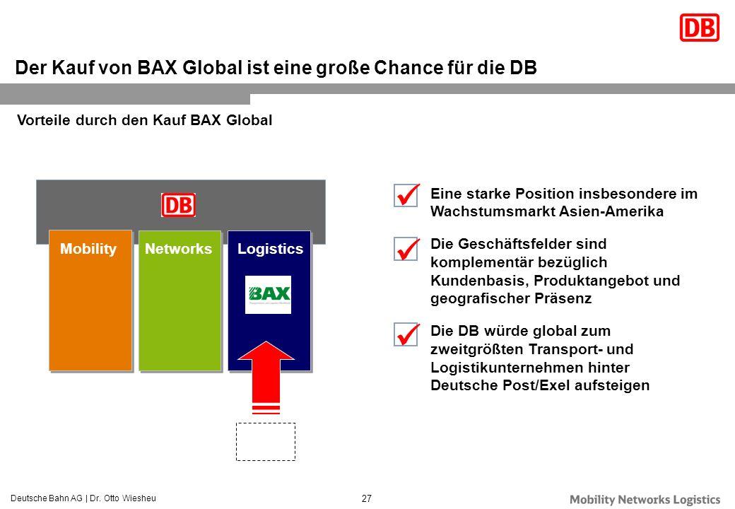 Der Kauf von BAX Global ist eine große Chance für die DB