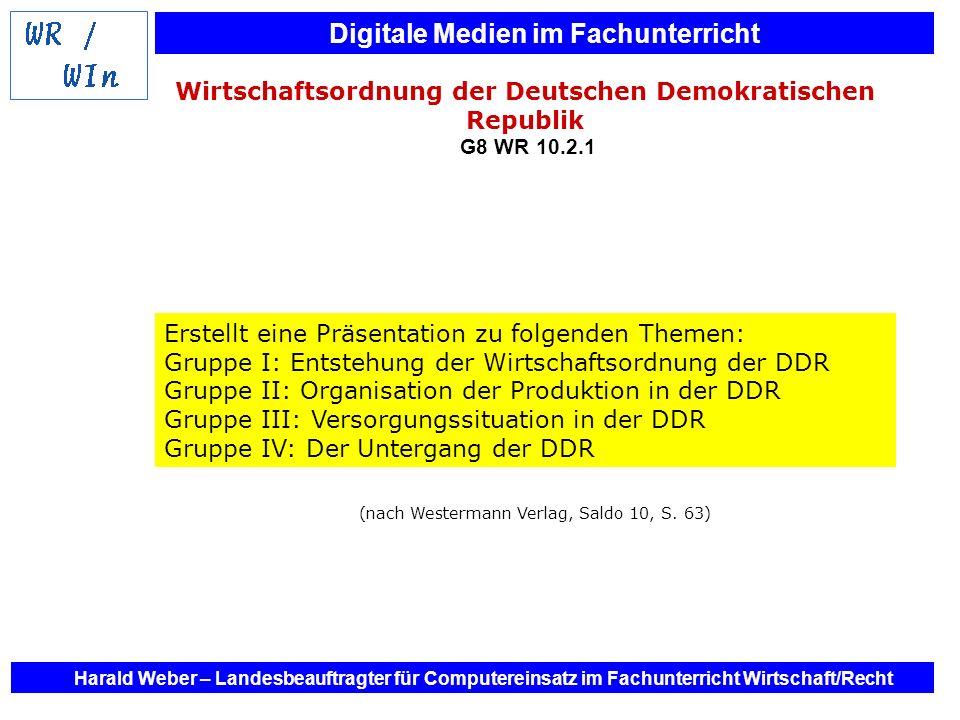 Wirtschaftsordnung der Deutschen Demokratischen Republik G8 WR 10.2.1