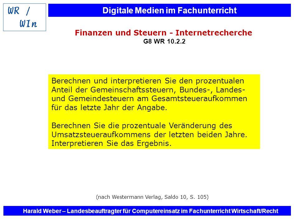 Finanzen und Steuern - Internetrecherche G8 WR 10.2.2