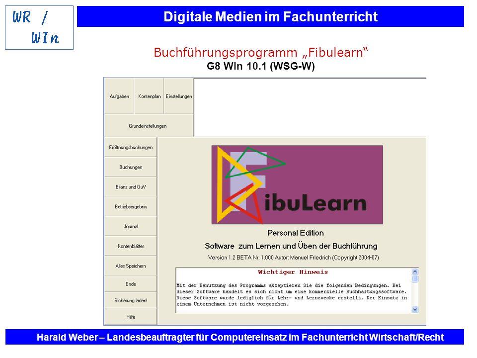 """Buchführungsprogramm """"Fibulearn G8 WIn 10.1 (WSG-W)"""