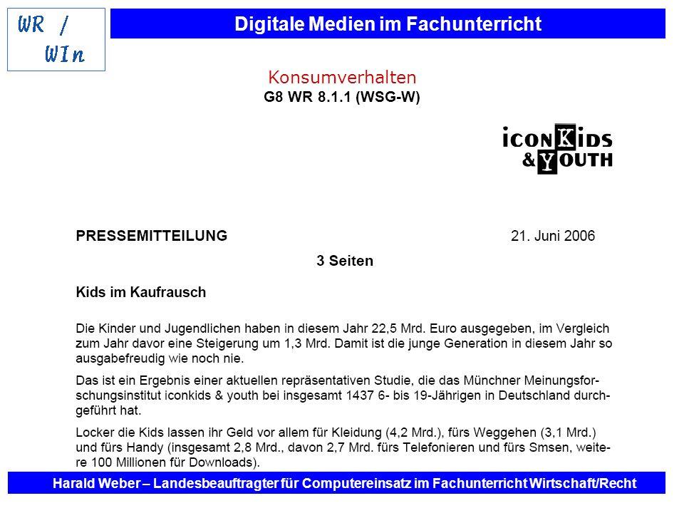 Konsumverhalten G8 WR 8.1.1 (WSG-W)