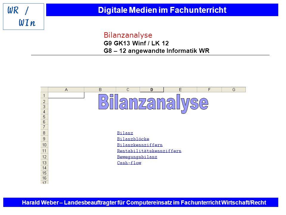 Bilanzanalyse G9 GK13 Winf / LK 12 G8 – 12 angewandte Informatik WR
