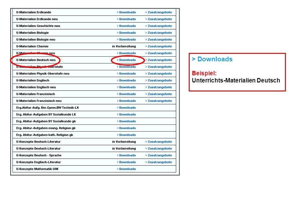 > Downloads Beispiel: Unterrichts-Materialien Deutsch