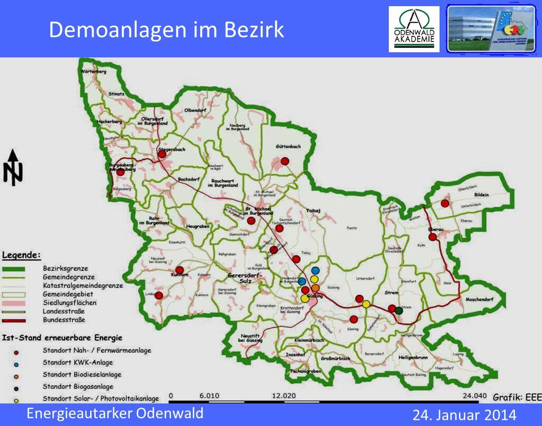 Demoanlagen im Bezirk