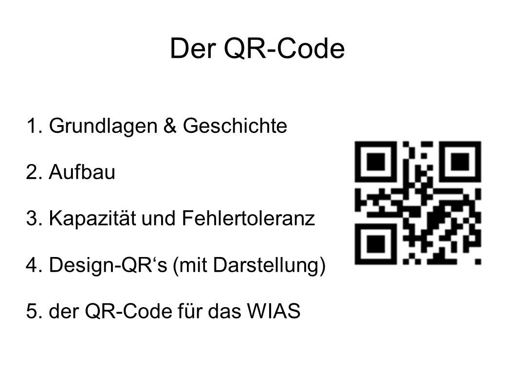 Der QR-Code 1. Grundlagen & Geschichte 2. Aufbau