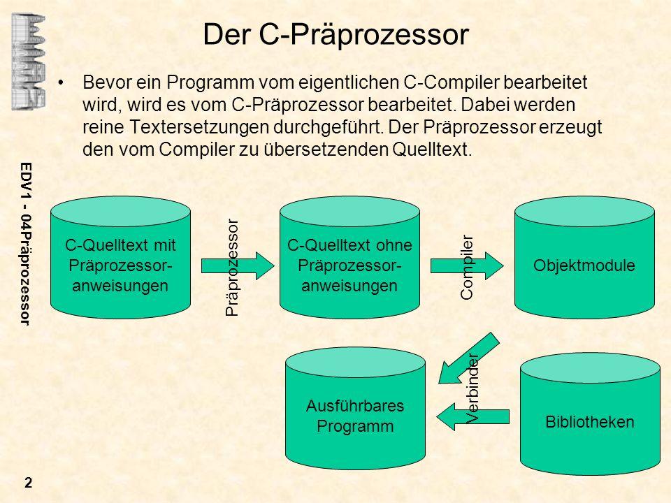 Der C-Präprozessor