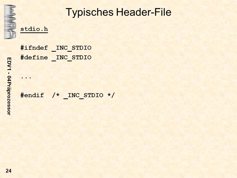 Typisches Header-File