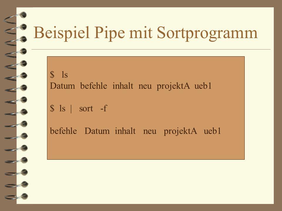 Beispiel Pipe mit Sortprogramm