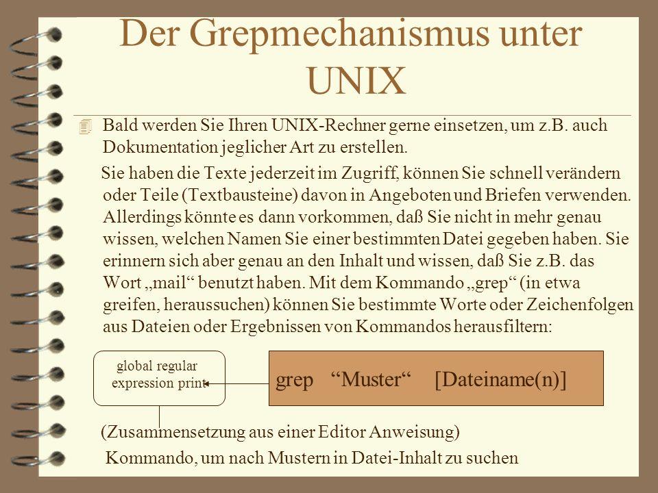 Der Grepmechanismus unter UNIX