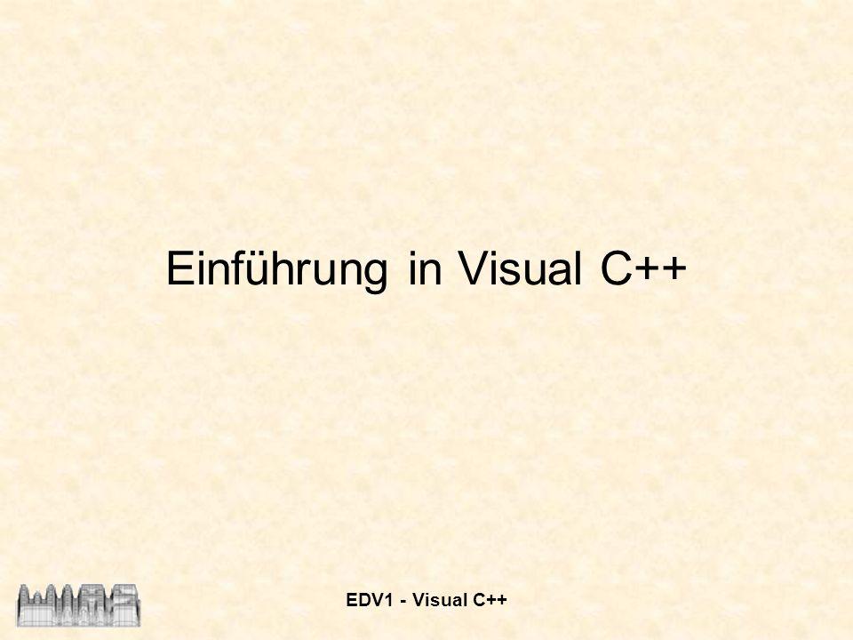 Einführung in Visual C++