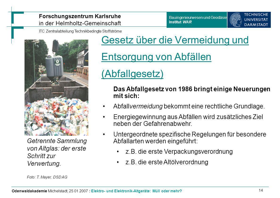 Gesetz über die Vermeidung und Entsorgung von Abfällen (Abfallgesetz)