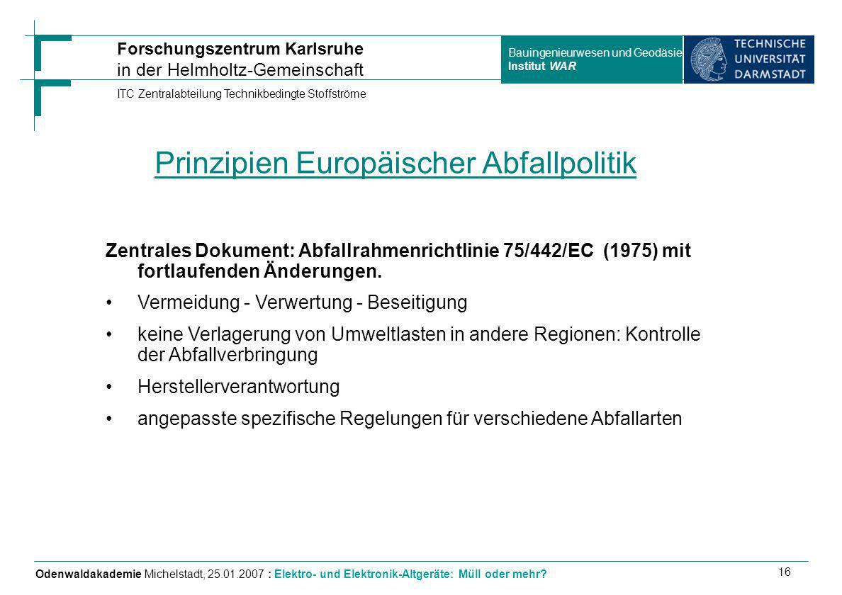 Prinzipien Europäischer Abfallpolitik