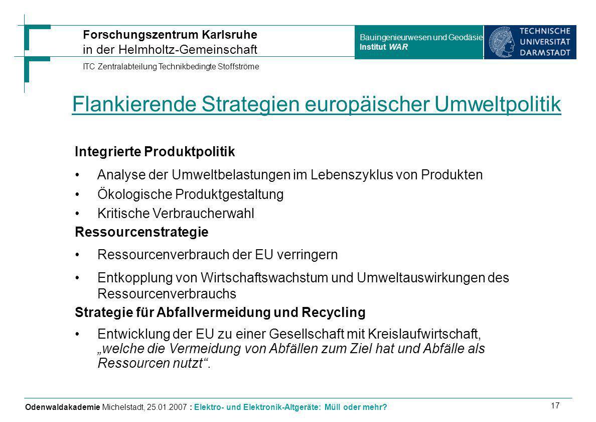 Flankierende Strategien europäischer Umweltpolitik