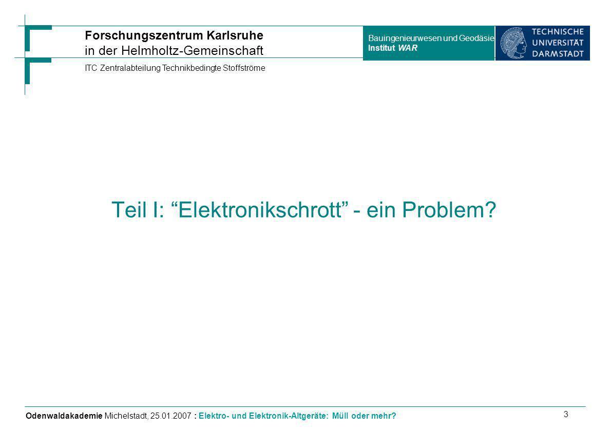 Teil I: Elektronikschrott - ein Problem
