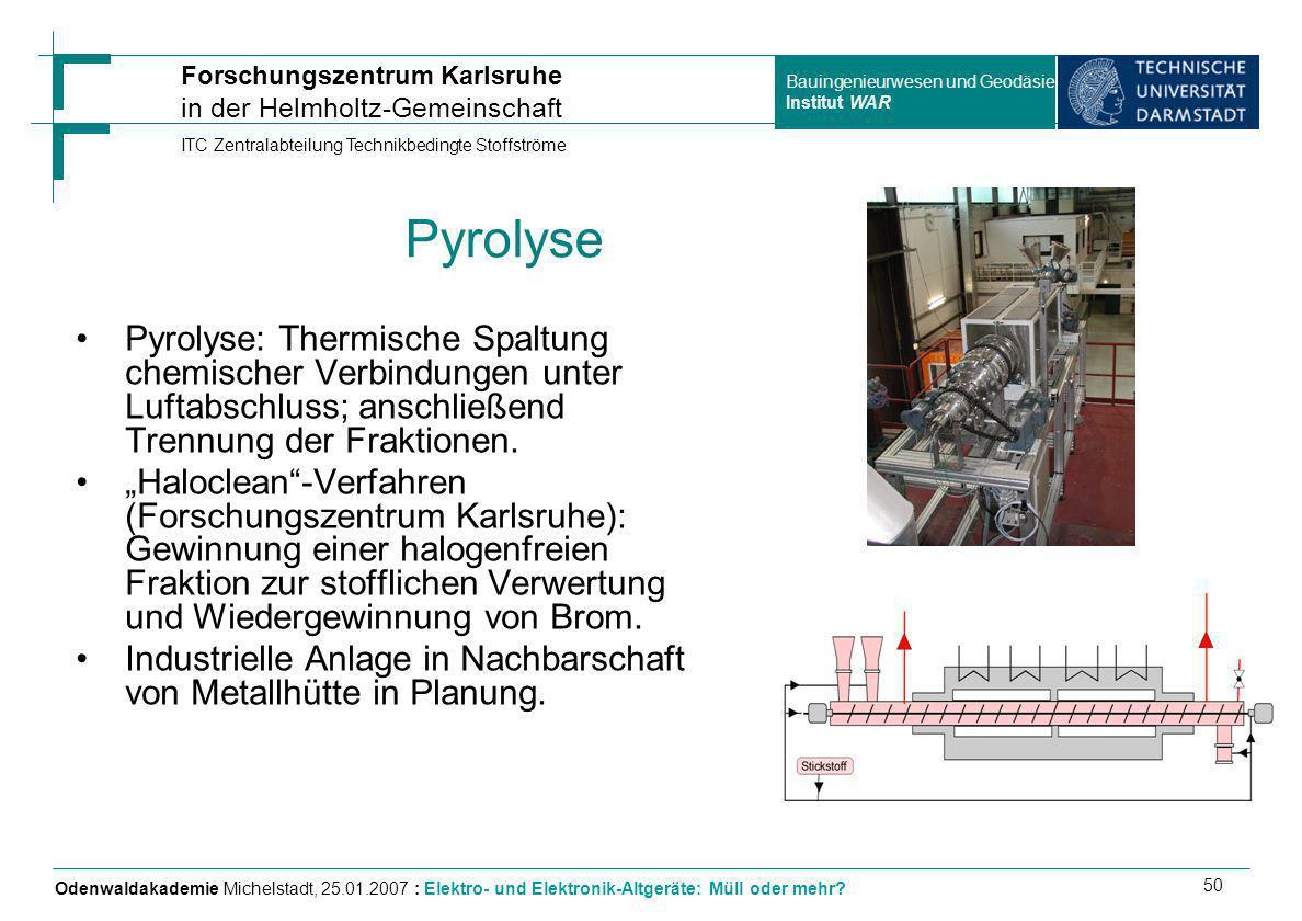 Pyrolyse Pyrolyse: Thermische Spaltung chemischer Verbindungen unter Luftabschluss; anschließend Trennung der Fraktionen.
