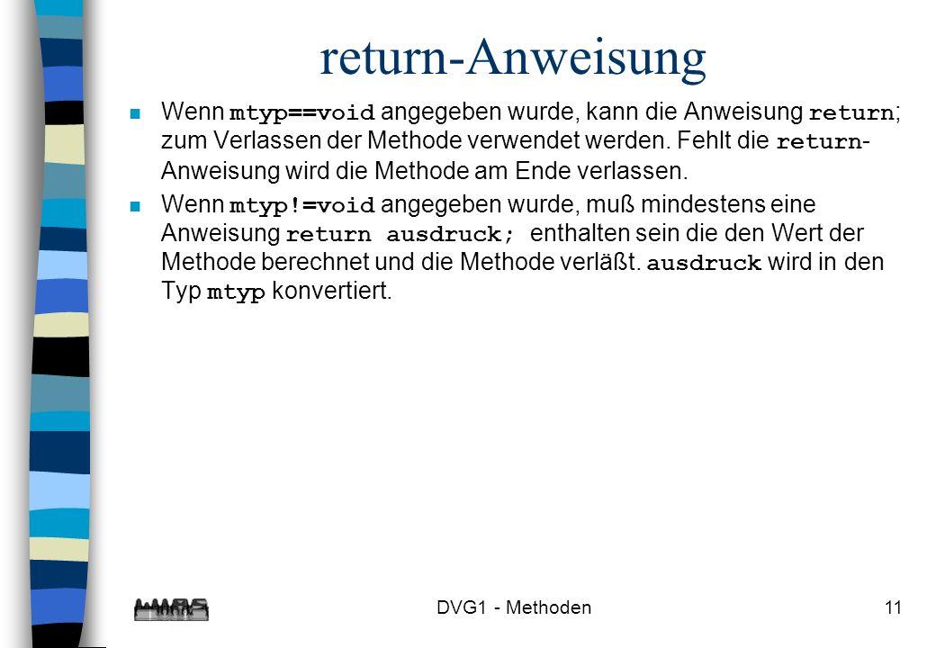 return-Anweisung