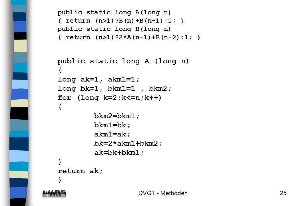 public static long A (long n) { long ak=1, akm1=1;