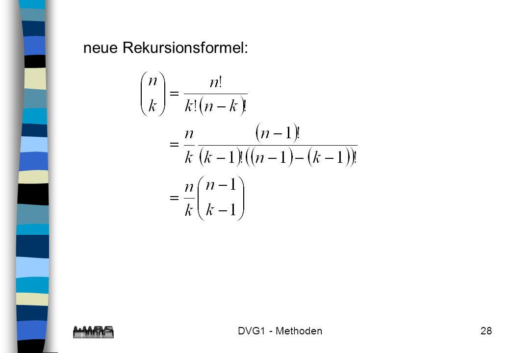 neue Rekursionsformel: