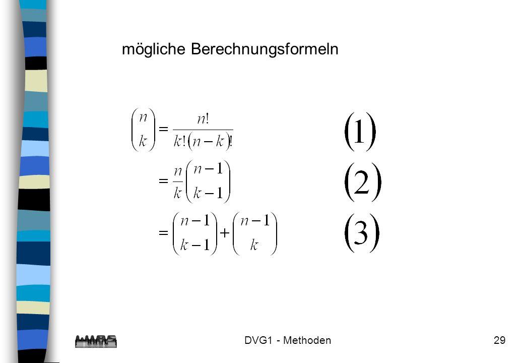 mögliche Berechnungsformeln