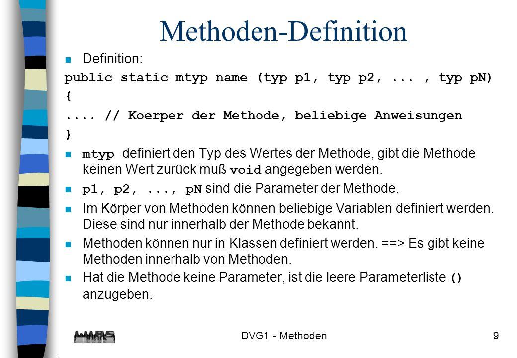 Methoden-Definition Definition: