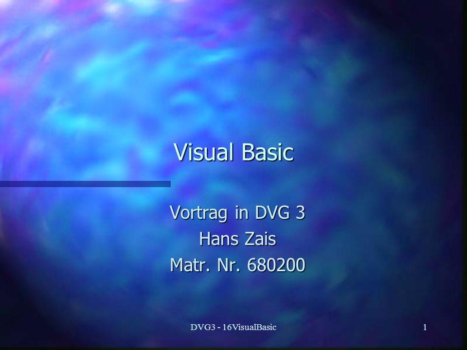 Vortrag in DVG 3 Hans Zais Matr. Nr. 680200