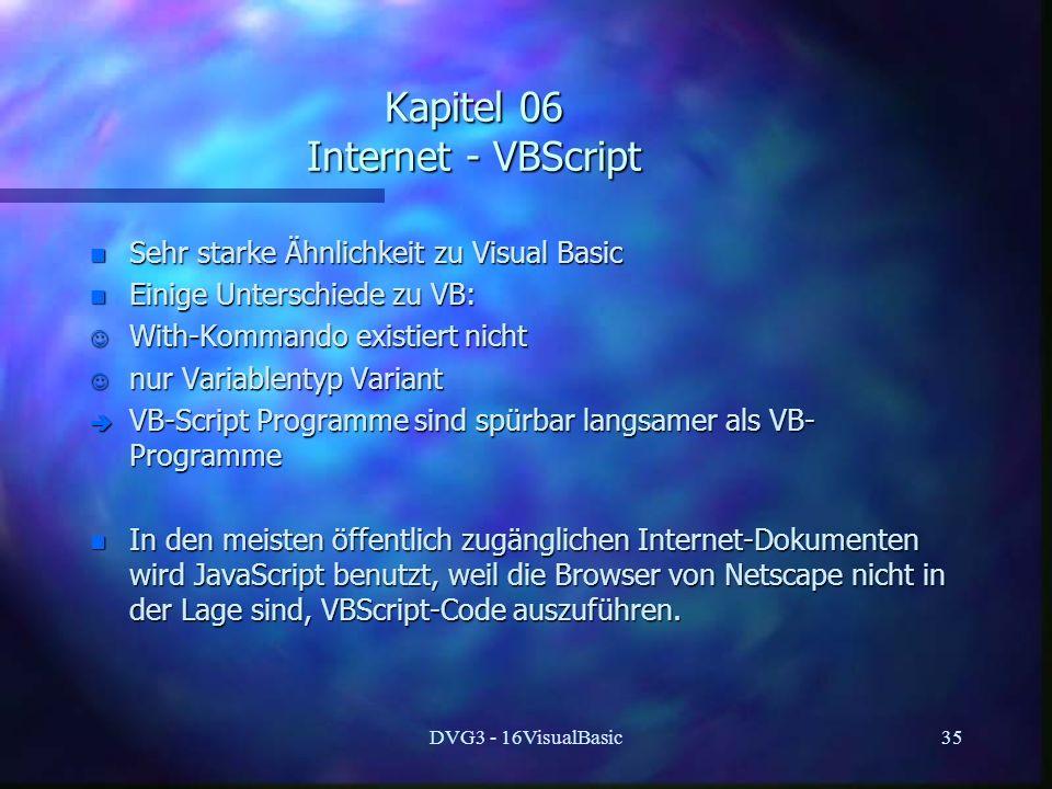 Kapitel 06 Internet - VBScript