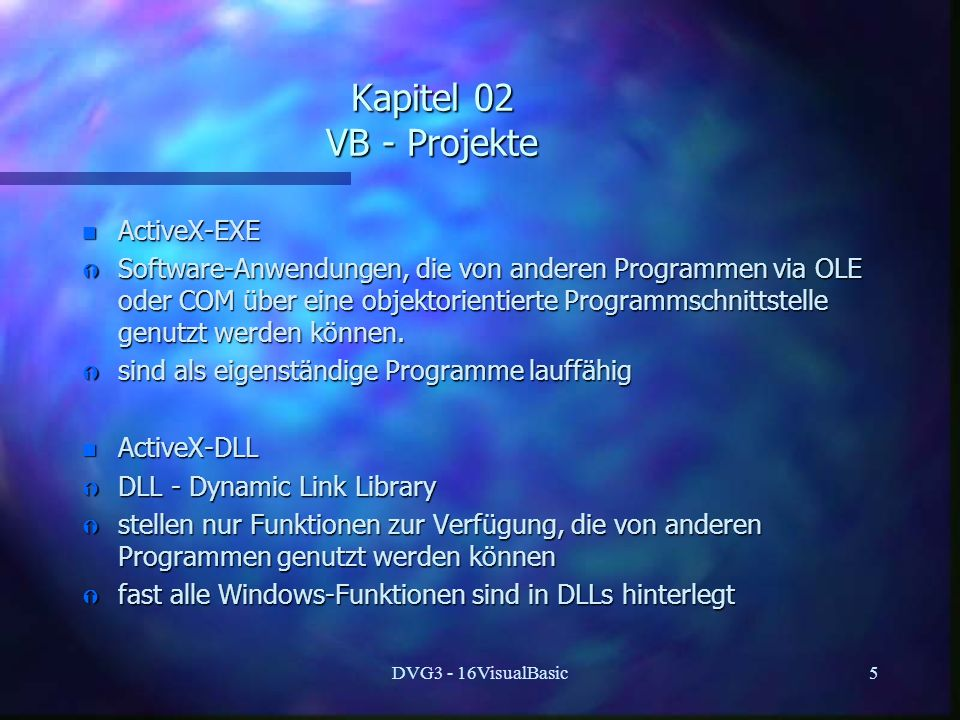 Kapitel 02 VB - Projekte ActiveX-EXE