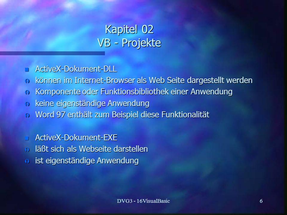 Kapitel 02 VB - Projekte ActiveX-Dokument-DLL