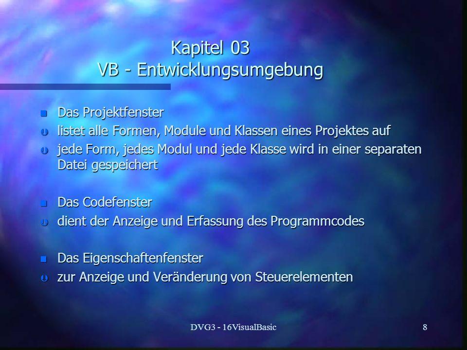 Kapitel 03 VB - Entwicklungsumgebung