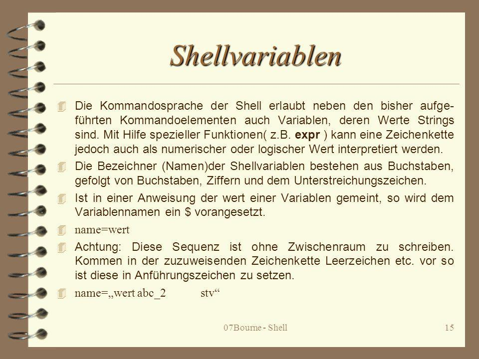 Shellvariablen
