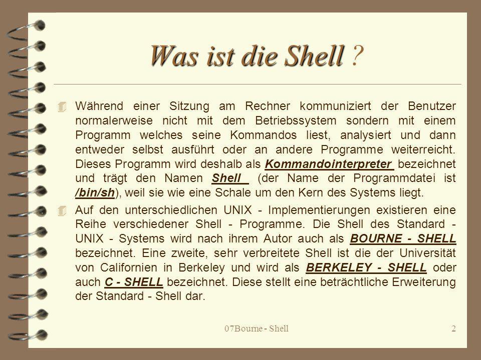 Was ist die Shell