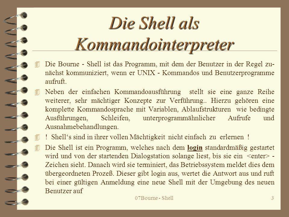 Die Shell als Kommandointerpreter