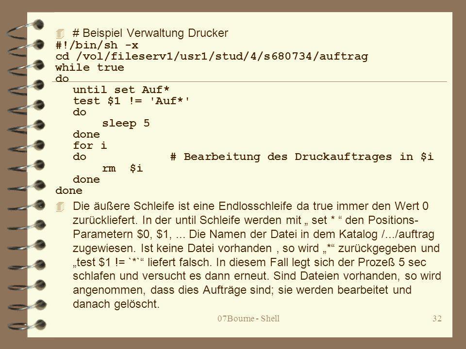 # Beispiel Verwaltung Drucker #!/bin/sh -x